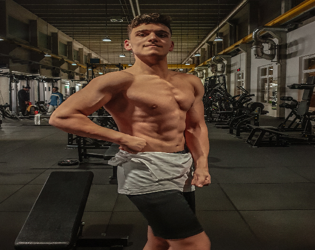Health Guide, Nutrition, a young boy feel strong and broad of himself